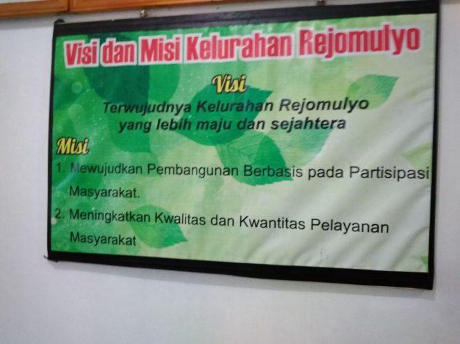 Visi dan Misi Kelurahan Rejomulyo